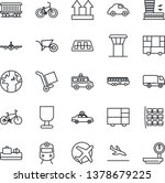 thin line icon set   airport... | Shutterstock .eps vector #1378679225