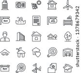 thin line icon set   office...   Shutterstock .eps vector #1378679342