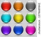 colored transparent glass balls ... | Shutterstock .eps vector #1378689842