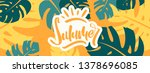 colorful summer banner with... | Shutterstock .eps vector #1378696085