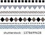 tribal pattern. ethnic... | Shutterstock .eps vector #1378699628