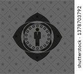 businessman icon inside dark... | Shutterstock .eps vector #1378703792