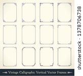 vintage calligraphic frame set. ... | Shutterstock .eps vector #1378706738