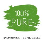 100 pure label and high quality ... | Shutterstock .eps vector #1378733168