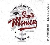 santa monica. california state. ... | Shutterstock .eps vector #1378767338