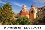 dome of tenedos catholic church ... | Shutterstock . vector #1378769765
