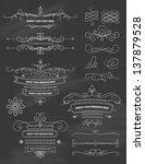 vintage calligraphy chalkboard... | Shutterstock .eps vector #137879528