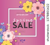 spring sale special offer... | Shutterstock .eps vector #1378801622