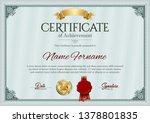 certificate of achievement.... | Shutterstock .eps vector #1378801835