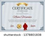 certificate of achievement.... | Shutterstock .eps vector #1378801838