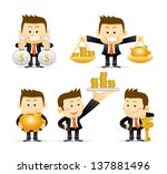businessman set | Shutterstock .eps vector #137881496