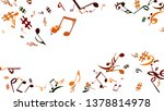 musical signs. modern... | Shutterstock .eps vector #1378814978