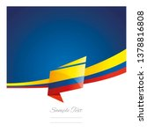 colombia flag ribbon new... | Shutterstock .eps vector #1378816808