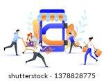 attraction buyers to online... | Shutterstock .eps vector #1378828775