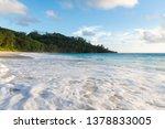 close up of indian ocean foam... | Shutterstock . vector #1378833005
