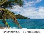 indian ocean coastline with... | Shutterstock . vector #1378833008