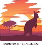 Kangaroo Silhouette At Sunset...