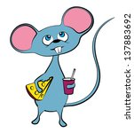 illustration of a mouse | Shutterstock .eps vector #137883692