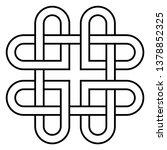 celtic knot   beautiful celtic... | Shutterstock .eps vector #1378852325
