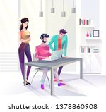 concept in flat style with... | Shutterstock .eps vector #1378860908