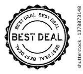 grunge black best deal word... | Shutterstock .eps vector #1378873148