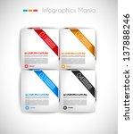 infographic design template... | Shutterstock . vector #137888246