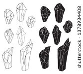 set of silhouettes of crystals. | Shutterstock .eps vector #1378934408