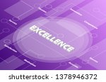 excellence words isometric 3d... | Shutterstock .eps vector #1378946372