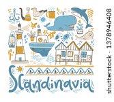 scandinavia. hand lettering... | Shutterstock .eps vector #1378946408