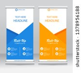roll up banner stand template... | Shutterstock .eps vector #1378956188