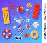vector summertime top view... | Shutterstock .eps vector #1378964618