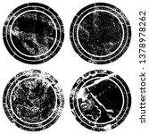 set of round grunge stamps | Shutterstock .eps vector #1378978262