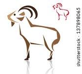 vector image of an goat on...   Shutterstock .eps vector #137898065