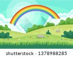 layers of flowers over the vast ... | Shutterstock .eps vector #1378988285