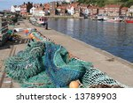 Fishing Nets Whitby Uk