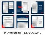 editable modern minimal square... | Shutterstock .eps vector #1379001242