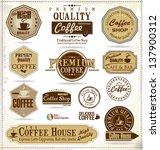 set of retro vintage coffee... | Shutterstock .eps vector #137900312