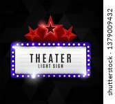 cinema theater retro light sign ... | Shutterstock .eps vector #1379009432