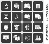education icons. set of... | Shutterstock .eps vector #1379011208