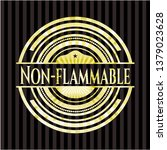 non flammable shiny emblem | Shutterstock .eps vector #1379023628