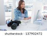 photo editor working on... | Shutterstock . vector #137902472