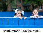 three girl schoolgirl... | Shutterstock . vector #1379026988