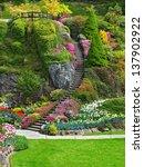 Ladder In Sunken Garden Of...