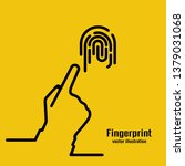 fingerprint icon. black outline ... | Shutterstock .eps vector #1379031068