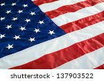 crumpled  vintage american flag.... | Shutterstock . vector #137903522