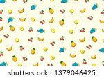 Pattern With Banana  Pineapple...