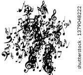 musical notes. creative... | Shutterstock .eps vector #1379048222