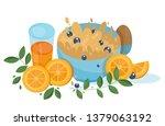 appetizing porridge with... | Shutterstock .eps vector #1379063192