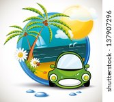 summer car | Shutterstock .eps vector #137907296