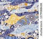 azulejos tiles patchwork.... | Shutterstock .eps vector #1379088638